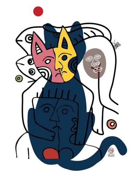 Image of CAT#8 (tee/undie/youth tee/toddler tee/baby onesie/tie/tote bag/apron/print/framed art)