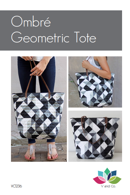 V And Co Geometric Quilted Tote Pdf