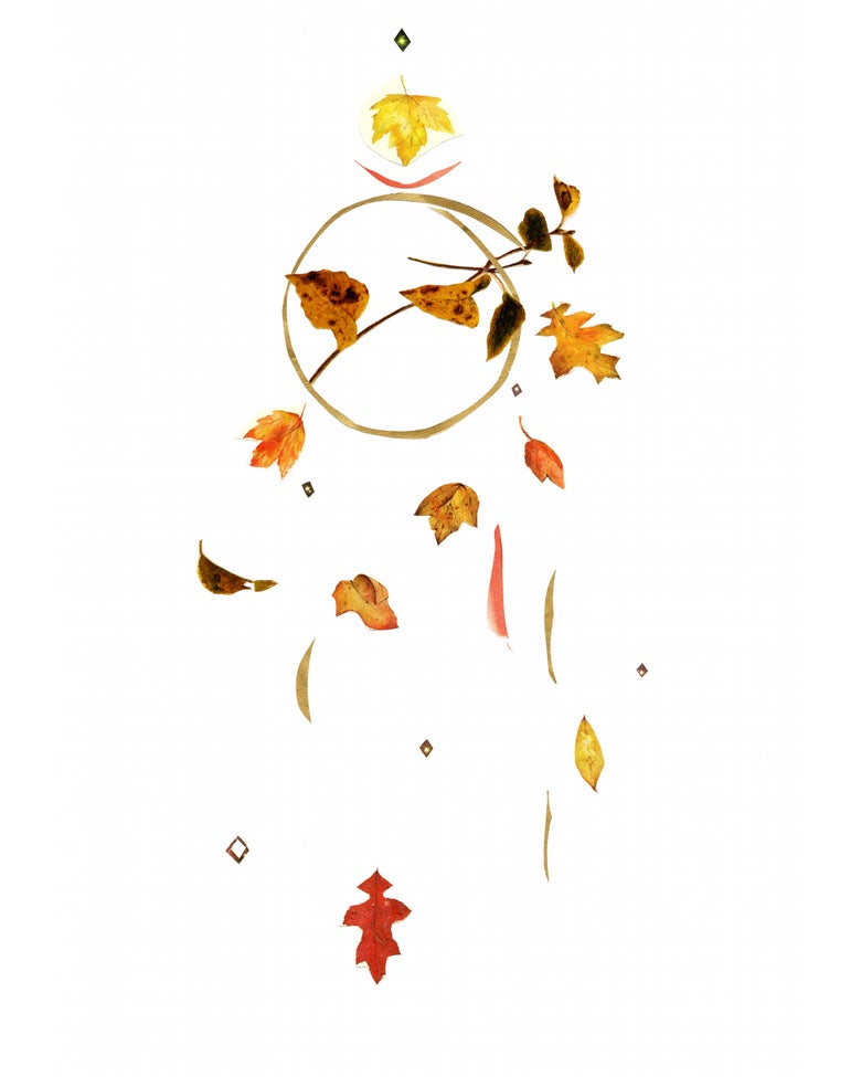 Image of fall leaves, giclée print