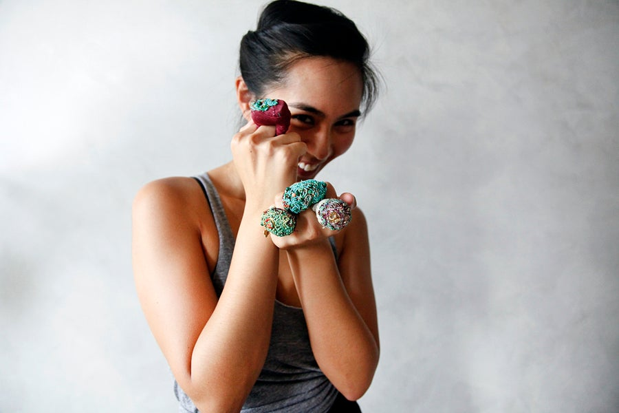 Image of Cuyo by Tamika Rivera /hand beaded rings  / Hekiti Collection