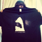 Image of Sharkmuffin GLOW IN THE DARK black t-shirt