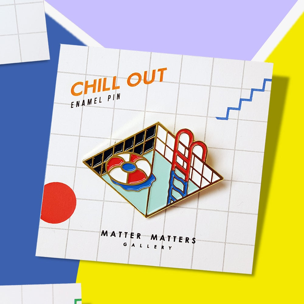 Chill Out - Enamel pin - Brass