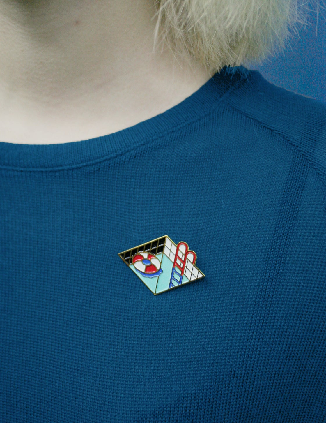 Image of Chill Out - Enamel pin -*18K- Gold Plated