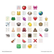 Image of Emoji Alphabet Project print