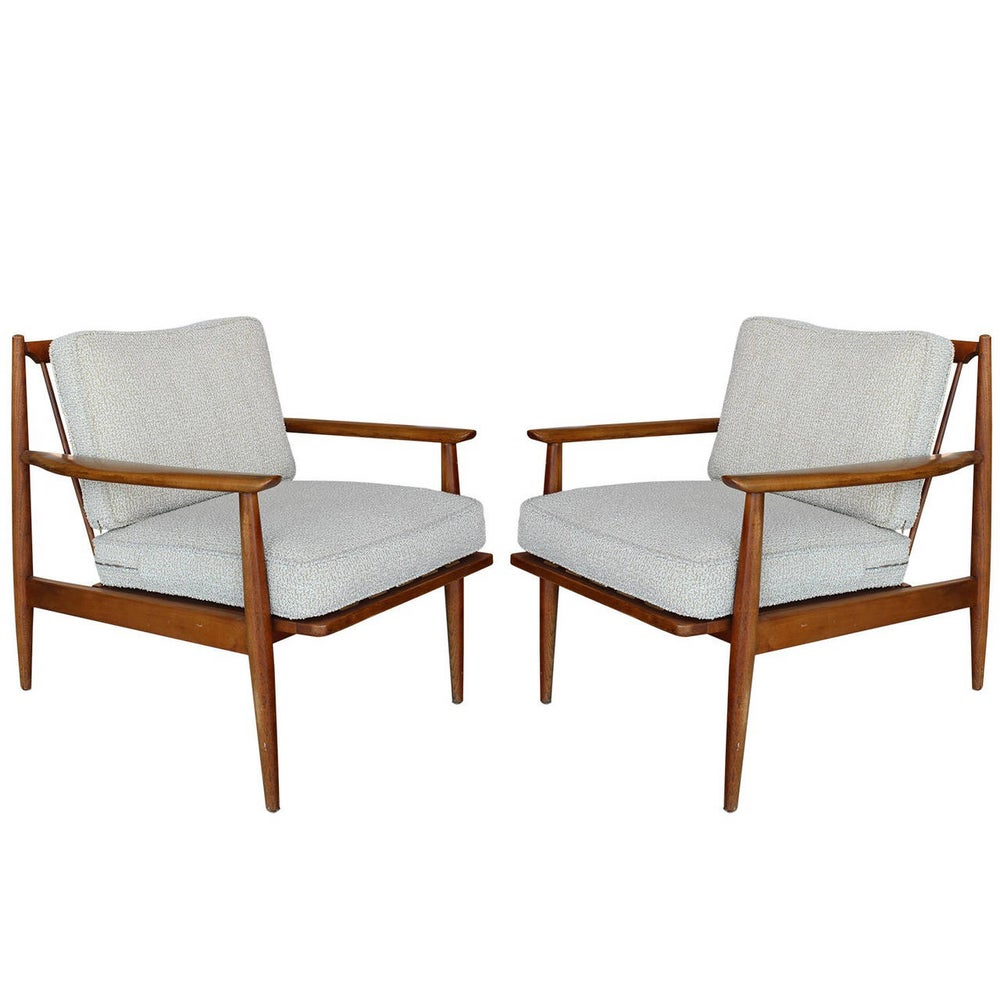 Image of Pair of Danish Modern Lounge Chairs, Manner of Kofod-Larsen