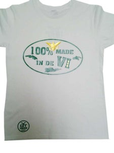 Image of 100% Made In De VI (White, Green, & Gold)
