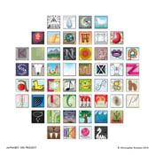 Image of Alphabet 100 print