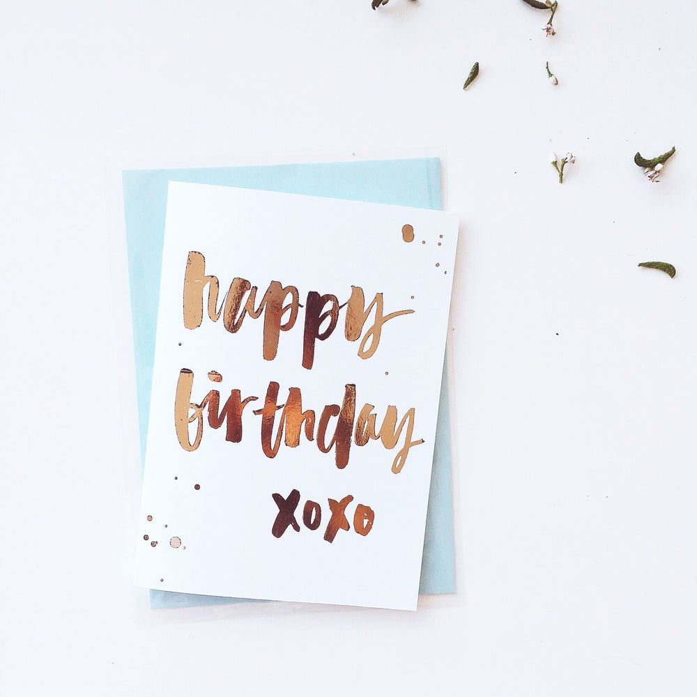 Image Of Happy Birthday Greeting Card