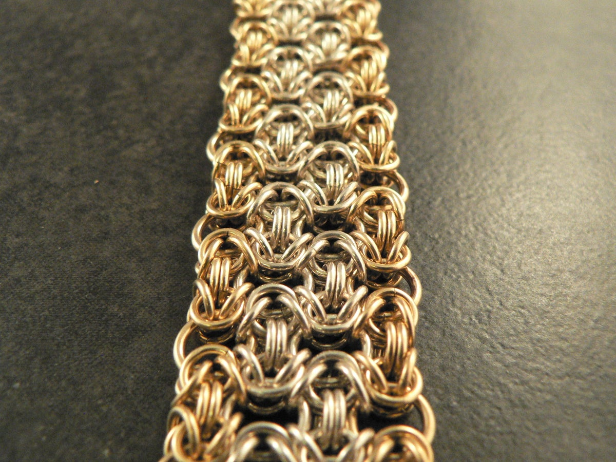 Image of Silver and Goldfill Woven Bracelet