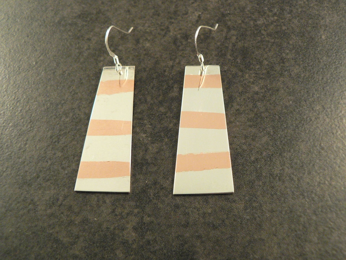 Image of Copper and Silver Swath Earrings