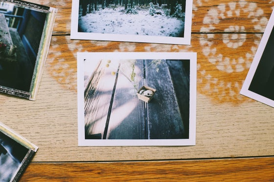 Image of Skull Original Polaroid