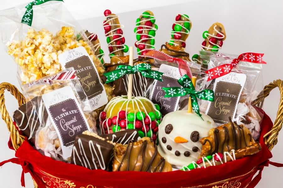 Image of Deluxe Holiday Basket - $100
