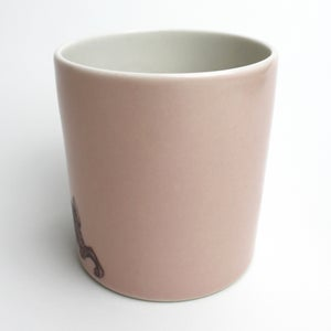Image of 16oz tumbler with rabbit, rose