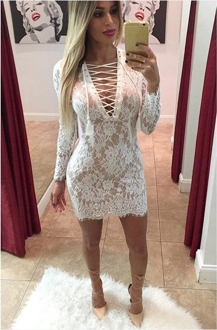 Image of HOT CUTE LACE DRESS FASHION