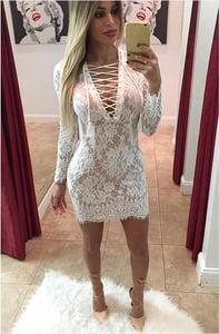Image of HOT CUTE LACE DRESS FASHION