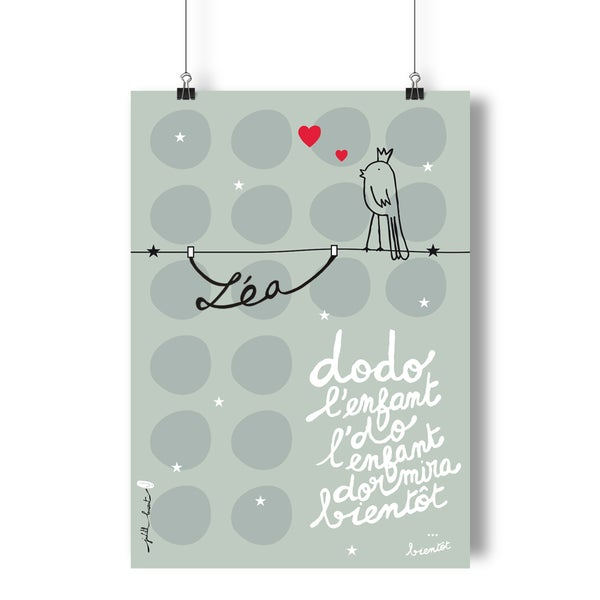 Image of Affiche dodo l'enfant do PERSONNALISABLE