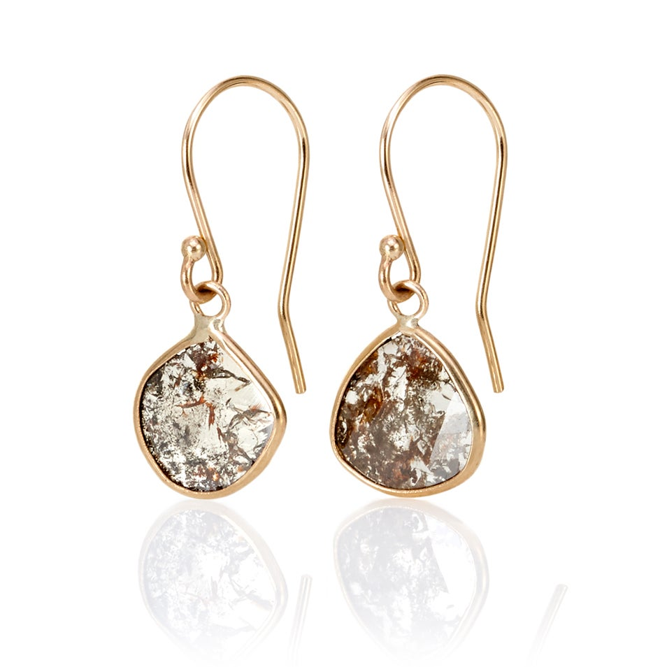 Image of Diamond Slice Earrings