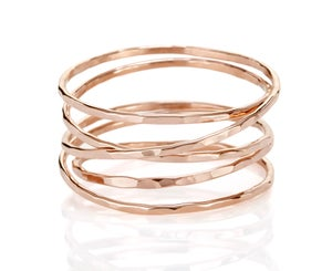 Image of Thin Mobius Ring *New in rose gold and two-tone!