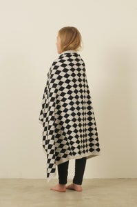 Image of Harlequin Blanket Black White