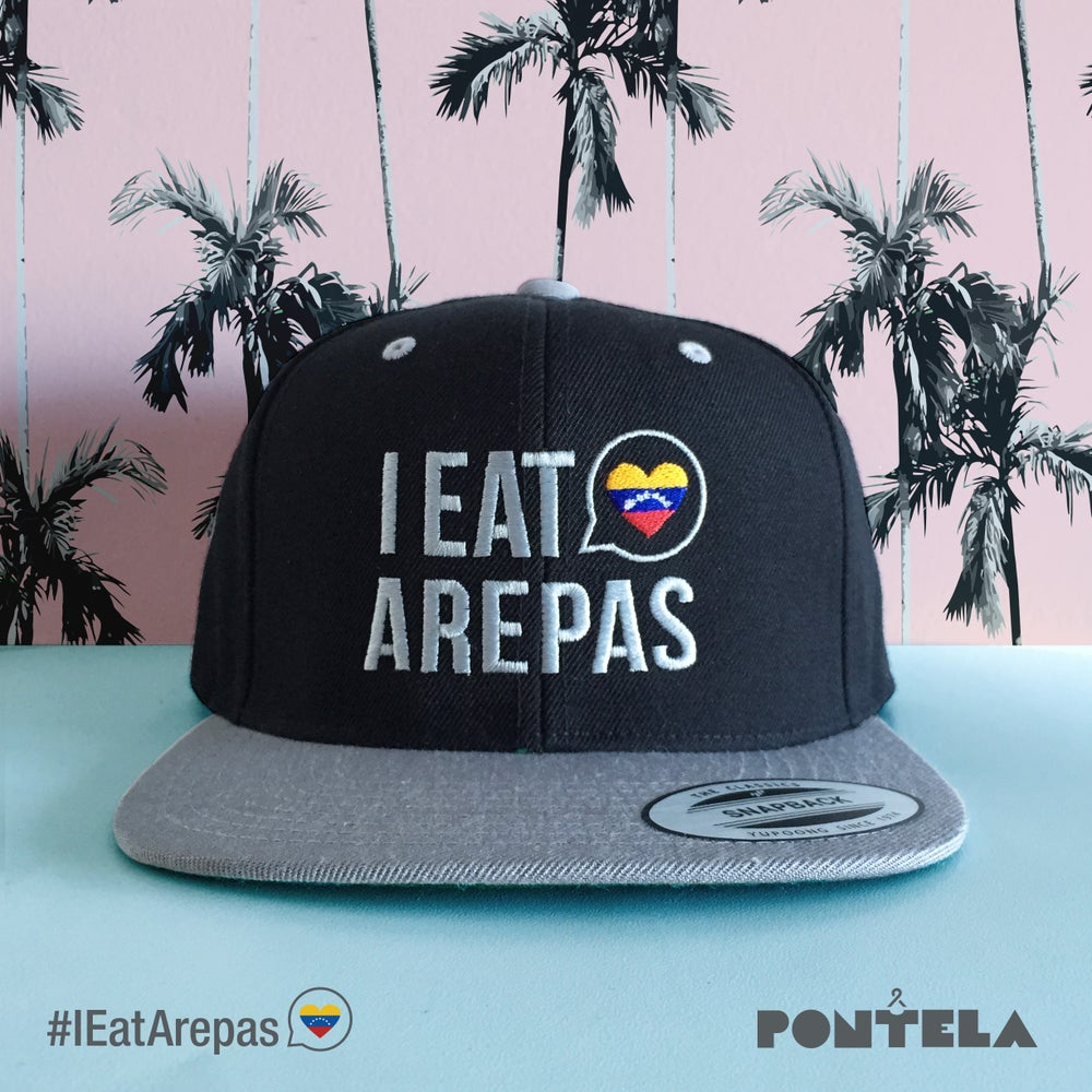 Image of I Eat Arepas Black/Silver