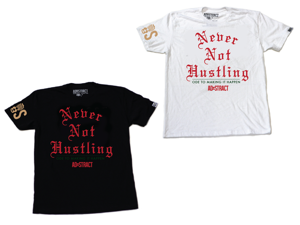 """Image of NEVER NOT HUSTLING """"GUCCI  TSHIRT"""