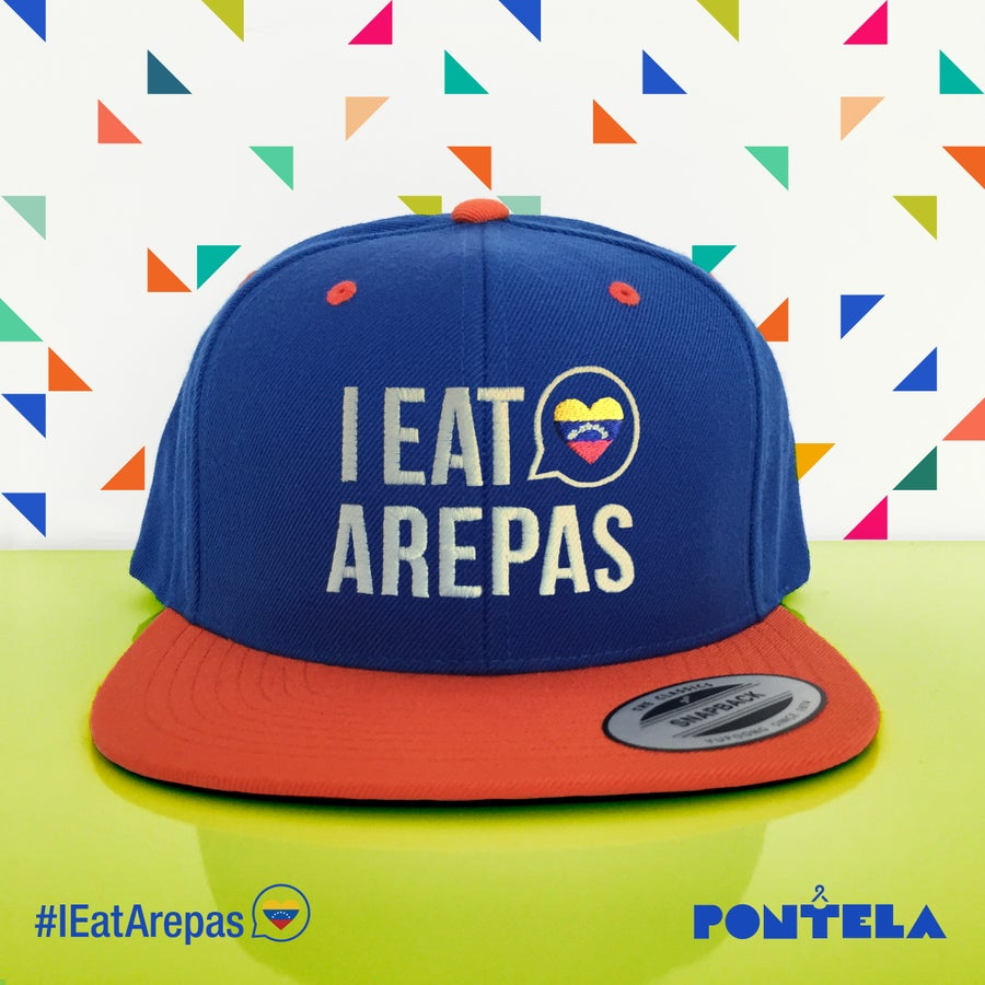 Image of I Eat Arepas Royal/Orange