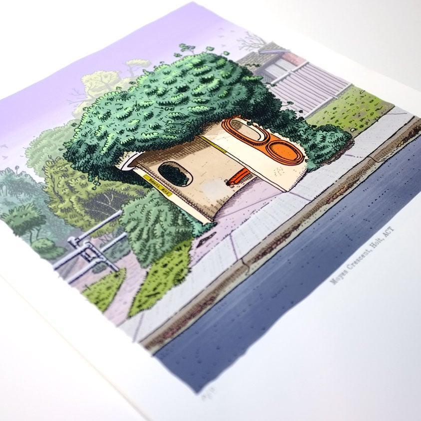 Image of Holt, Moyes Crescent, digital print