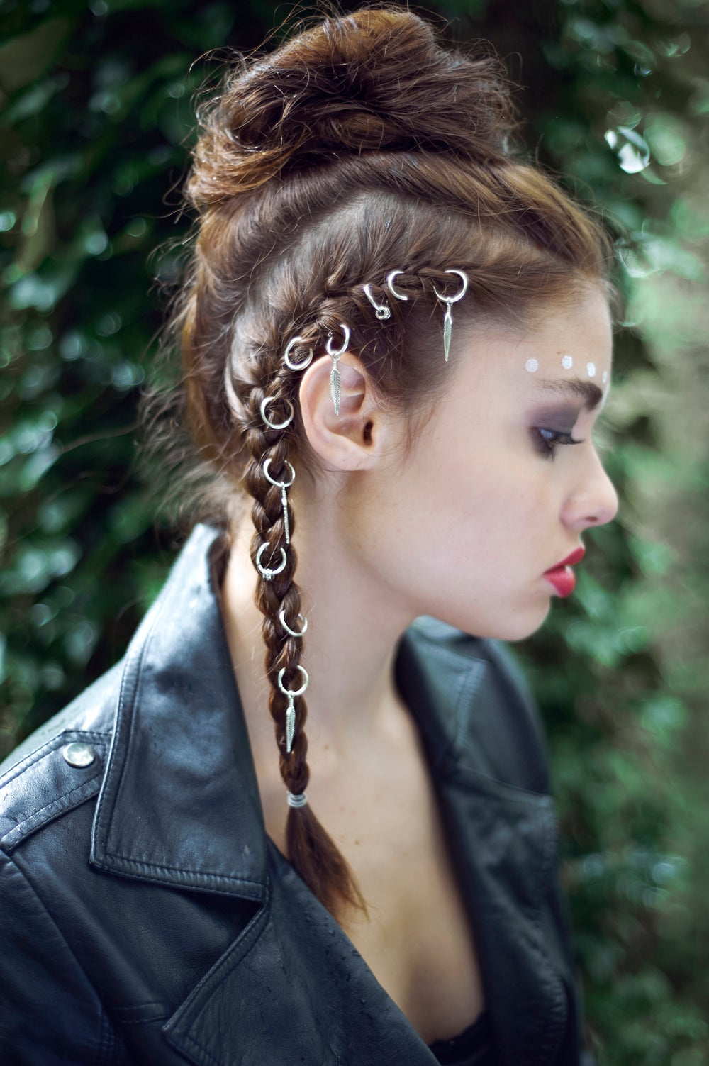 Image of Tempest Silver Hair Rings