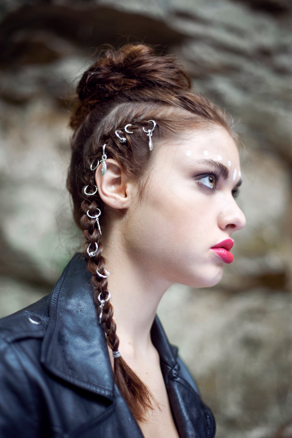 Image of Hunter Silver Hair Rings