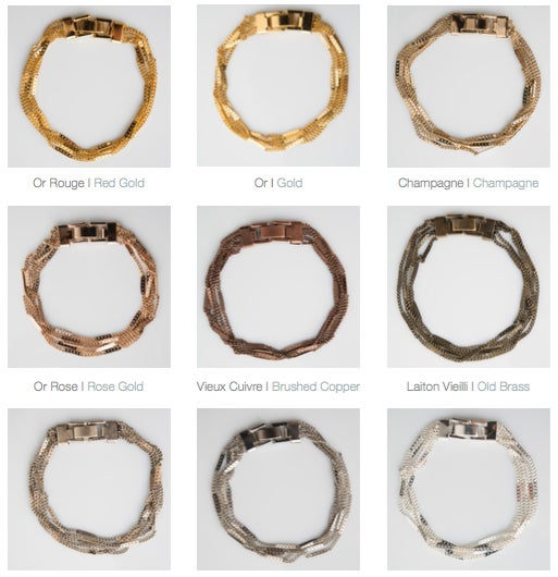 Image of gourmette 5 rangs /5-Band simple-cuff bracelet