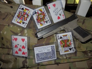 Image of GLOCK: Nutnfancy Shot Playing Card, Embossed