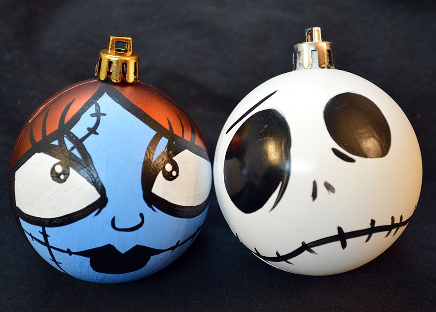 Nightmare Before Christmas Ornament Set Jack And Sally Decorations