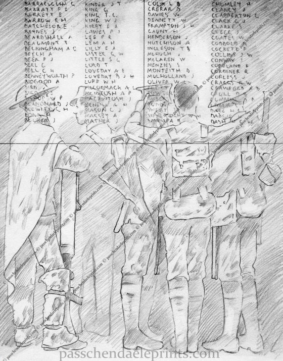 Image of Ghost soldiers of the B.E.F at The Menin Gate