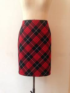 Image of Bias cut Tartan pencil skirt