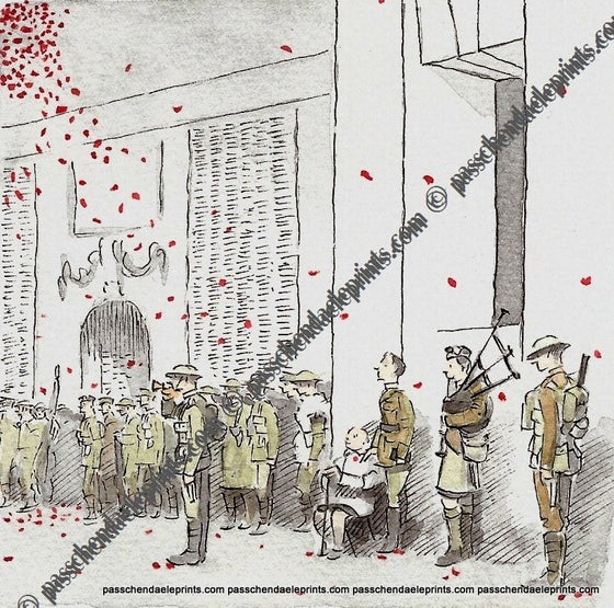 Image of 'Last Post' B.E.F Ghosts at the Menin Gate