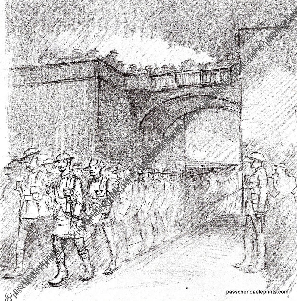 Image of Ghost soldiers at the Lille Gate Ypres