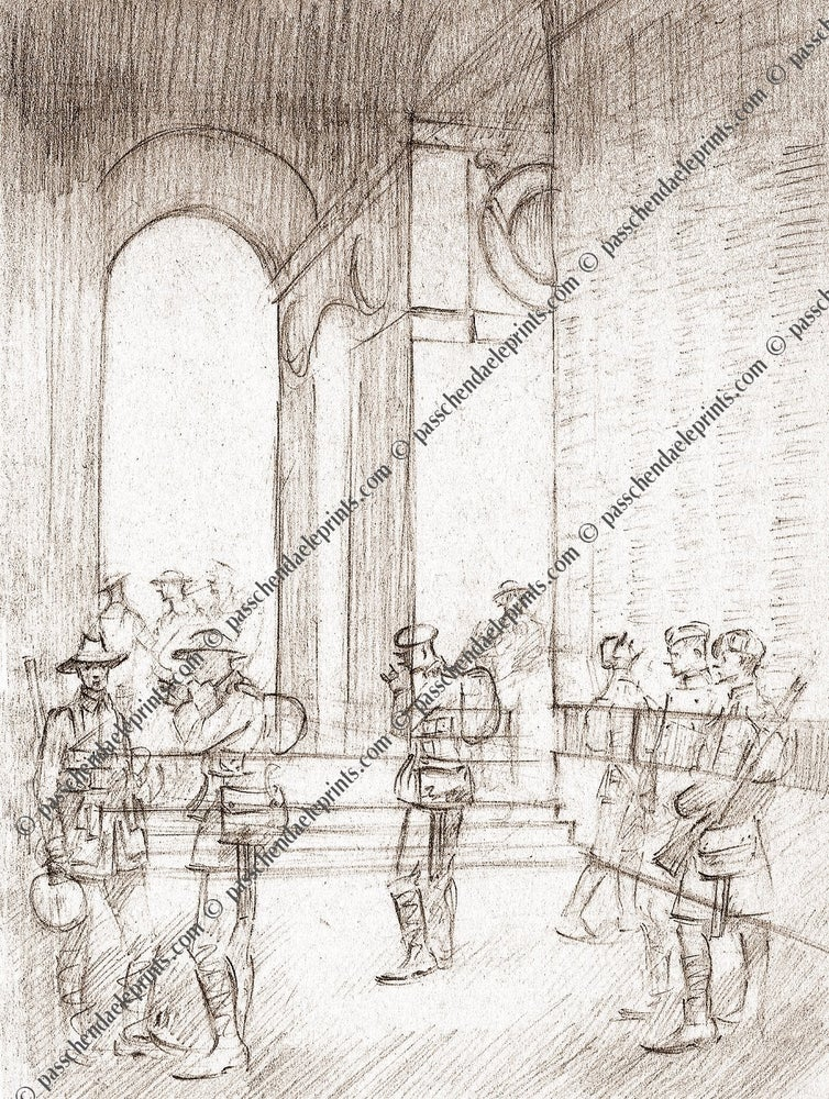 Image of Ghost soldiers at the Thiepval Memorial The Somme 1916