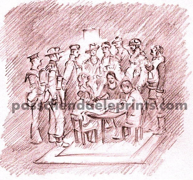 Image of The Seance 1943 Ghost Soldiers, Sailors and Airmen at a Seance 1943