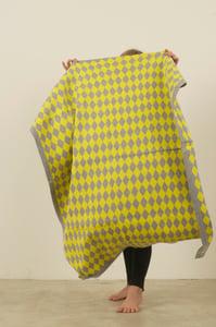 Image of Harlequin Blanket Yellow Grey