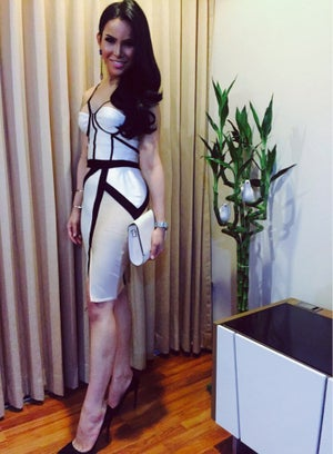 Image of SYNS BANDAGE BEIGE  DRESS