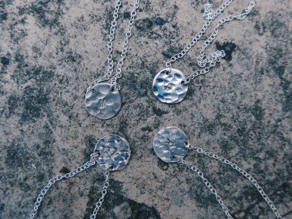 Image of Hammered Silver Necklace