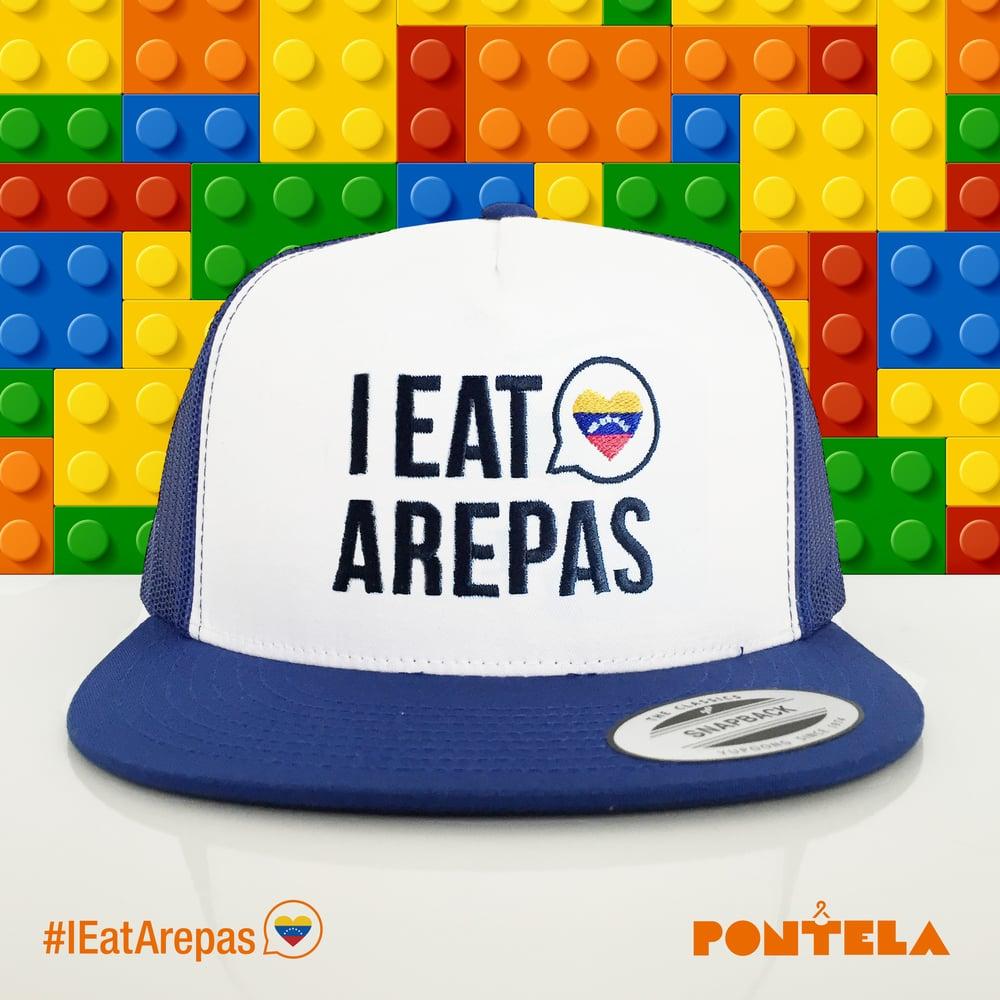 Image of I Eat Arepas Royal/White Panel