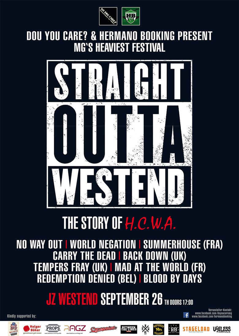 Image of STRAIGHT OUTTA WESTEND Poster A2
