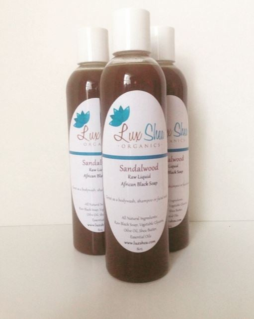 Image of Sandalwood Liquid Black Soap