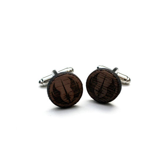 Image of TIMBER Jedi Order Wood Cufflinks