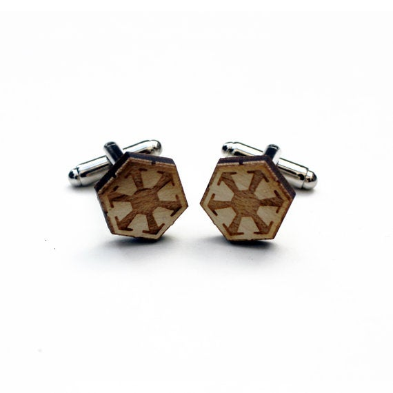 Image of TIMBER Sith Empire Wood Cufflinks