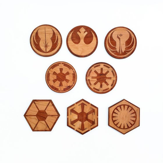 Image of 8pc. Laser Cut Star Wars Coasters