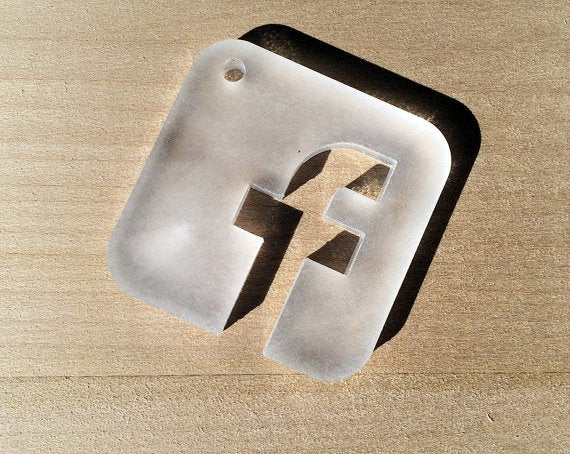 Image of Laser Cut Social Media Icon Coasters - Set of 9 coasters