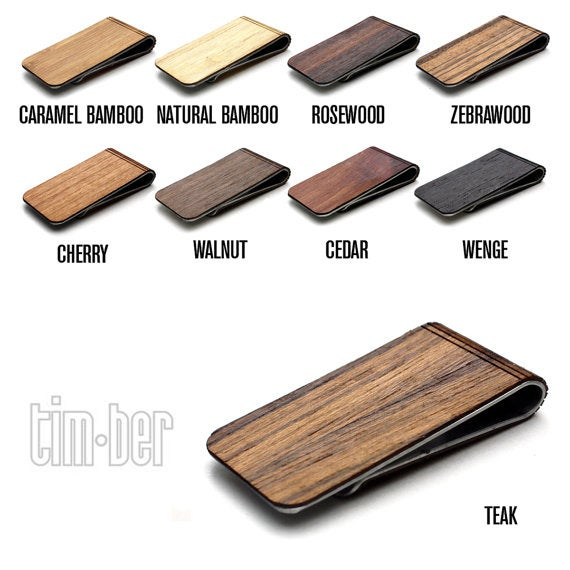 Image of TIMBER Joaquin Wood Skin Money Clip