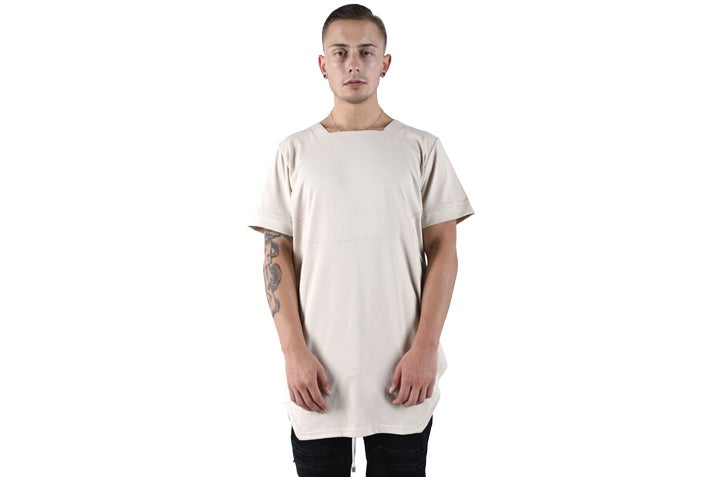Image of Urban Flavours NYC SOHO Plain T-shirt Cream
